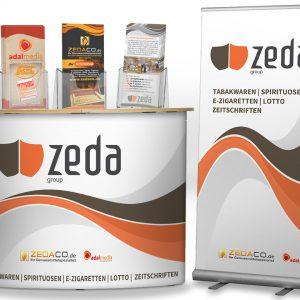Zeda-Messestand für Gewerbeschau in Emmerthal