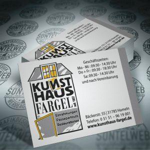 Fargel-Kunsthaus-Visitenkartendruck-Hameln