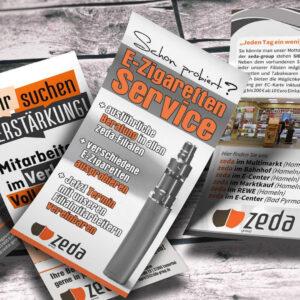 Zeda-Werbemittel für das Pflasterfest Hameln