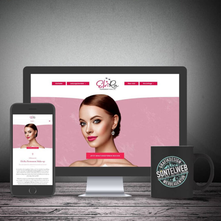 Neue Homepage online: ElviRa Permanent Make-up in Gronau/Leine