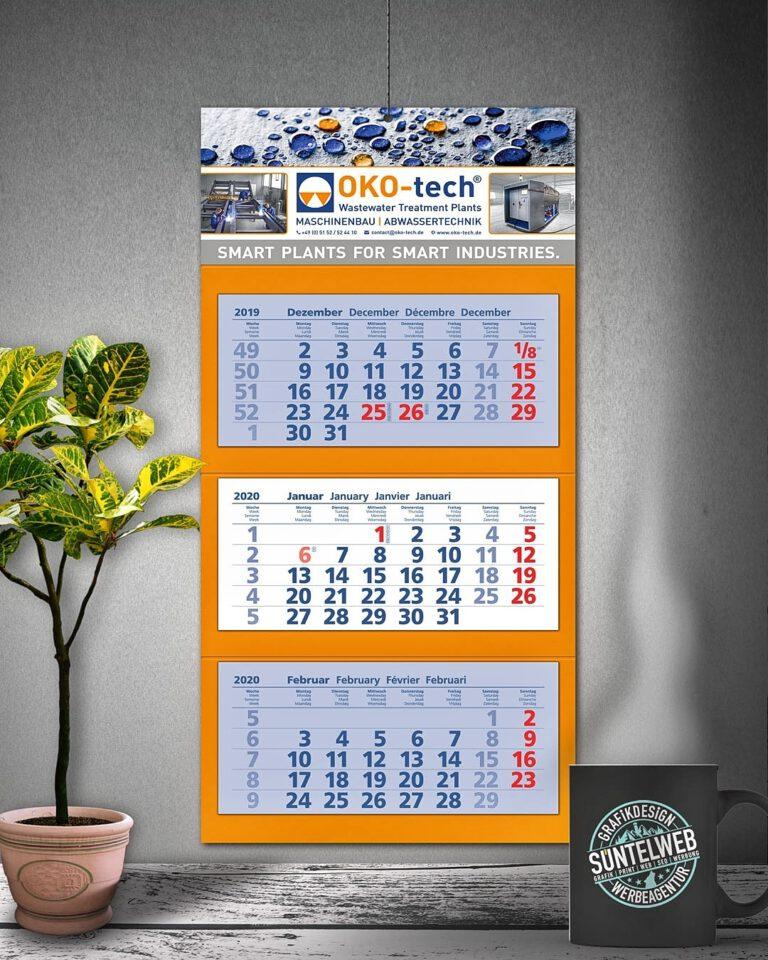 Kalender 2020 und Visitenkarten für die OKO-tech GmbH & Co. KG