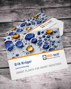 Visitenkarten für die OKO-tech-GmbH & Co. KG