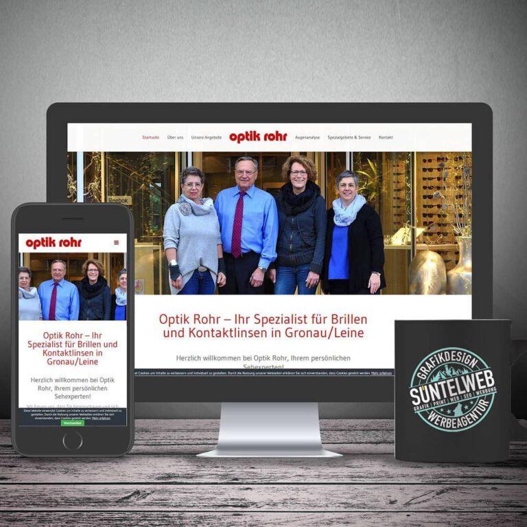 Neue Homepage für Optik Rohr in Gronau