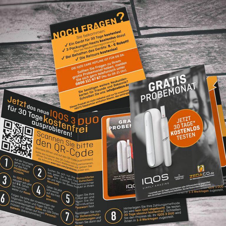 Broschüre: IQOS-Gratismonat für zedaco.de