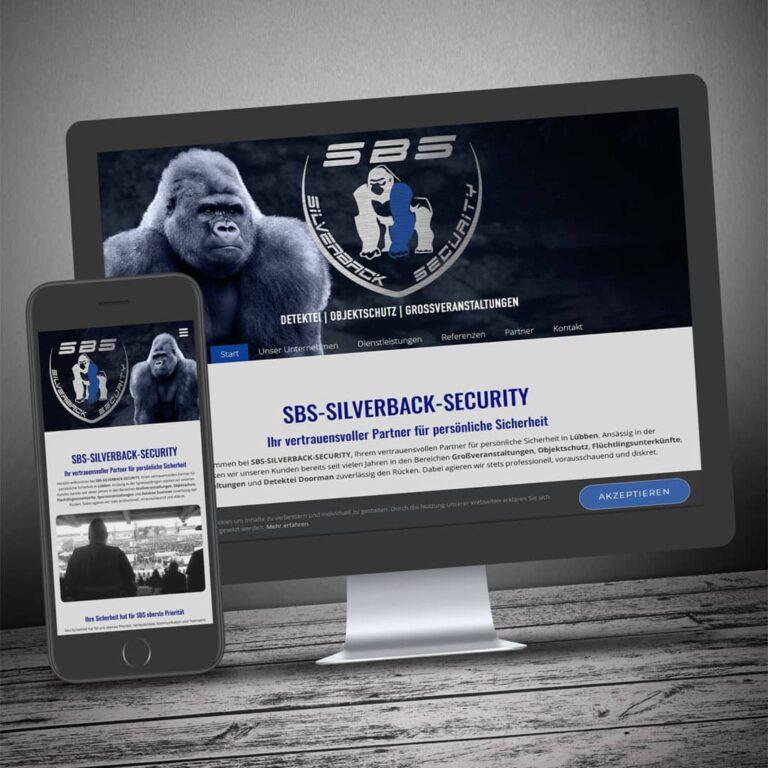 Neue Homepage für SBS-Silverback-Security aus Lübben/Spreewald 🎉