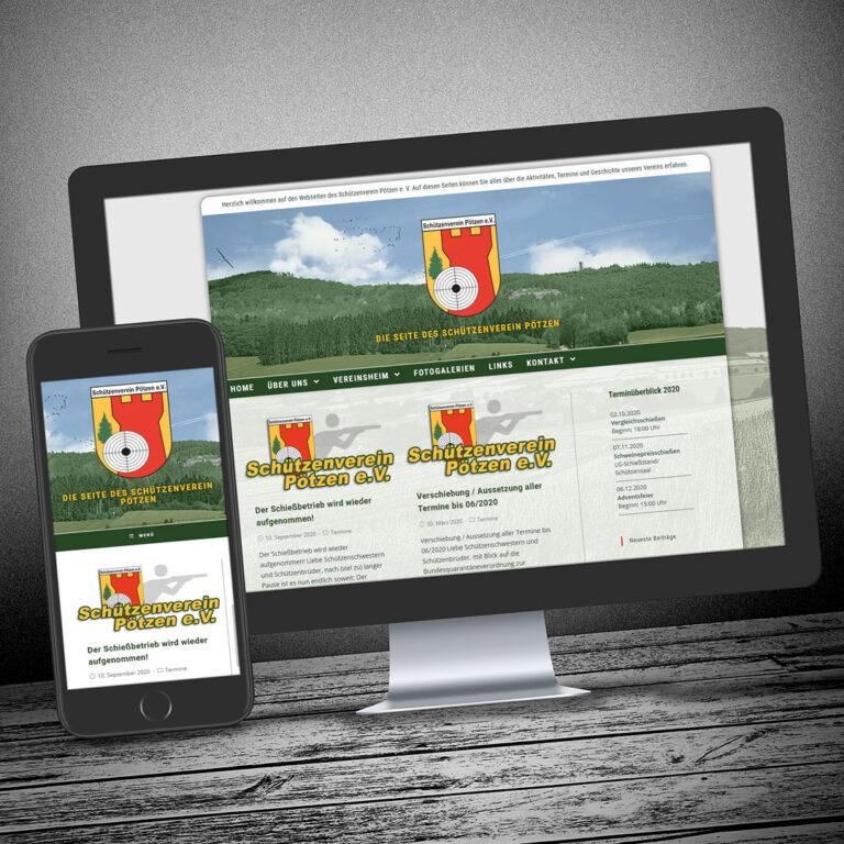 Redesign der Homepage des Schützenverein Pötzen